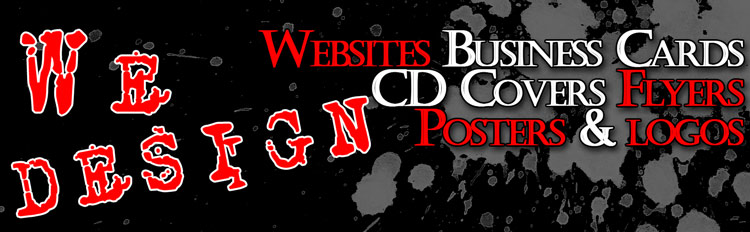 We Design Websites, Business Cards, CD Covers, Flyers, Posters & Logos